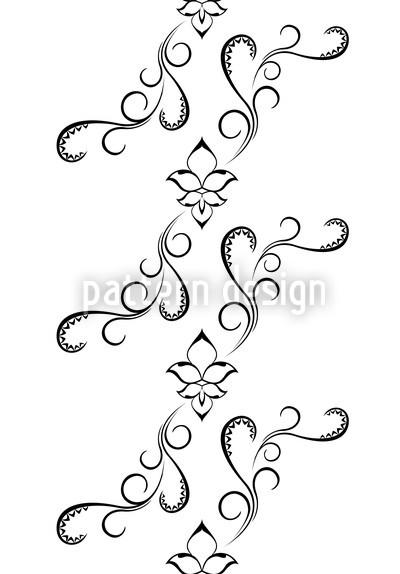 White Orient Vector Ornament