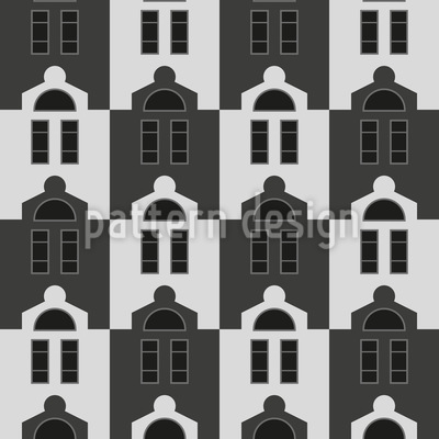 Uniform Houses Vector Pattern
