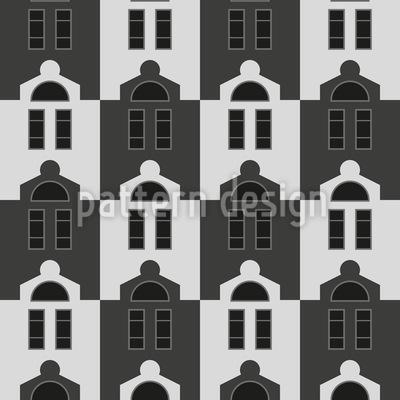 Uniforme Häuser Vektor Muster