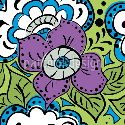 Spring Doodle Vector Pattern