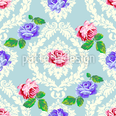 Shabby Chic Roses Seamless Vector Pattern