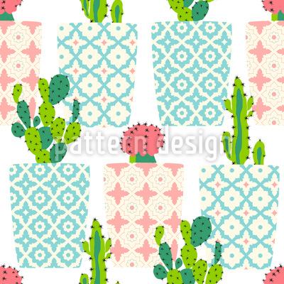 Kaktus Töpfe Rapportiertes Design