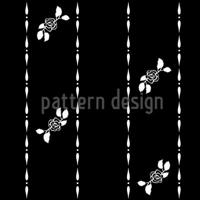 Dornröschen Träumt Bei Nacht Vektor Muster