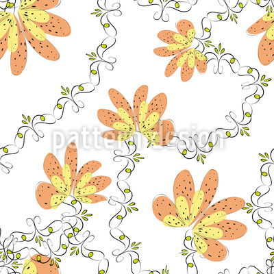 Blooming Period Seamless Vector Pattern
