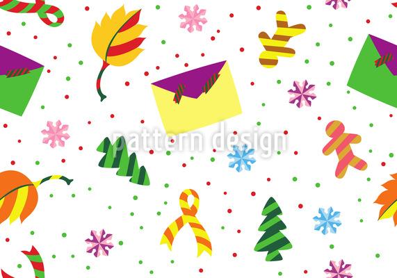 Weihnachtspost Nahtloses Muster