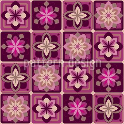 Lotus Tiles Repeat Pattern