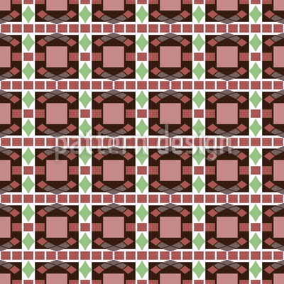Art Deco Mosaic Vector Pattern