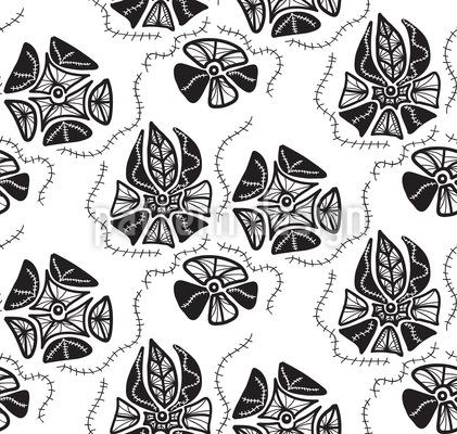 Florale Erinnerungen Nahtloses Vektor Muster