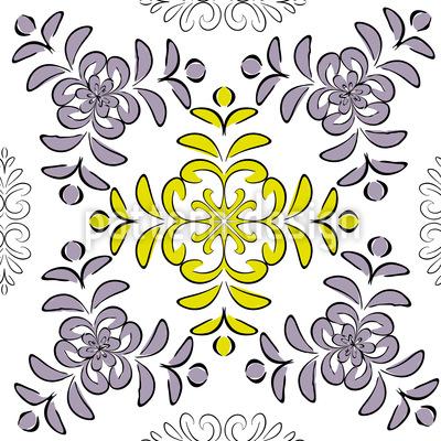 Florale Geometrie Rapportmuster