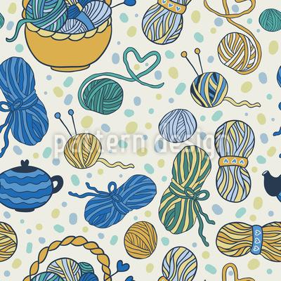I Love Knitting Pattern Design