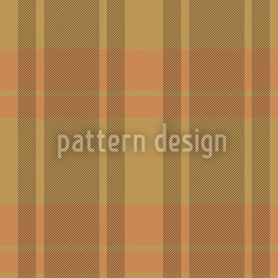 Tartan Brown Vector Ornament