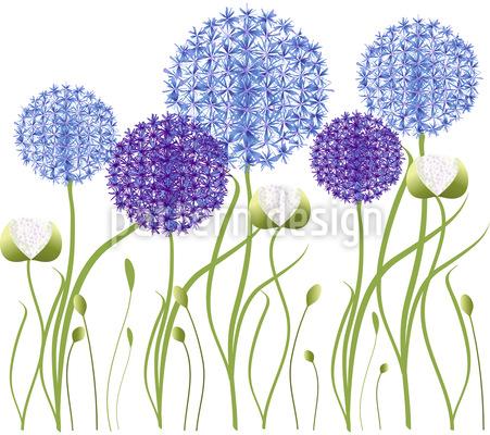 Allium Garten Vektor Ornament