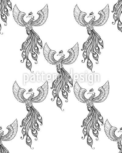Aufsteigender Phoenix Vektor Muster