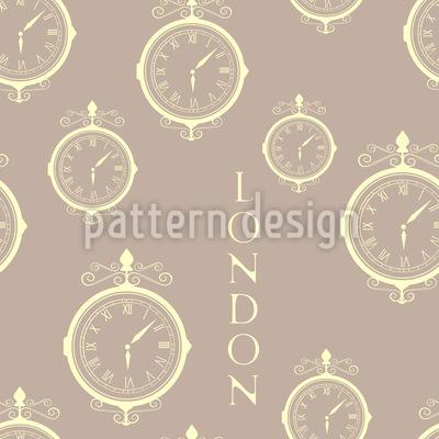London Zeitzone Nahtloses Vektor Muster