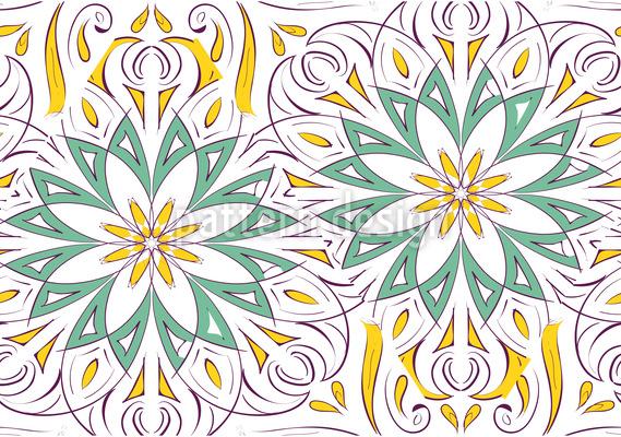 Garten Zauber Vektor Ornament