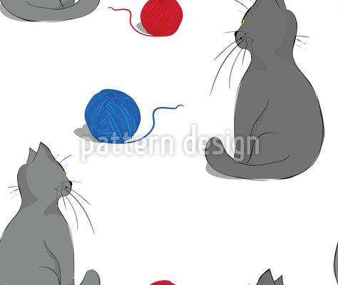 Playful Kitties Seamless Pattern