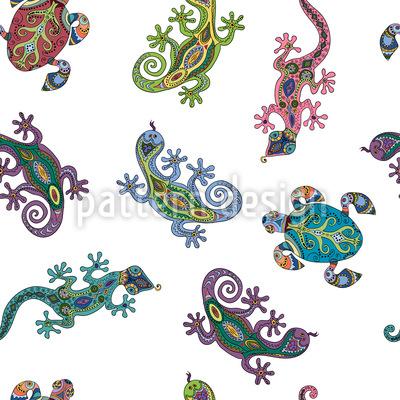 Kleine Kreaturen Vektor Muster