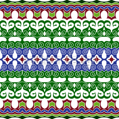 Oriental days Seamless Pattern