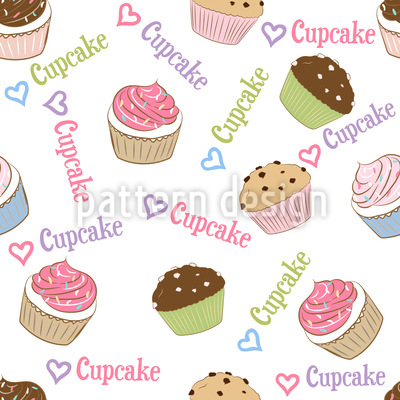 Ich Liebe Cupcakes Rapportmuster