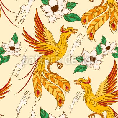 Phönix und Lotus Muster Design