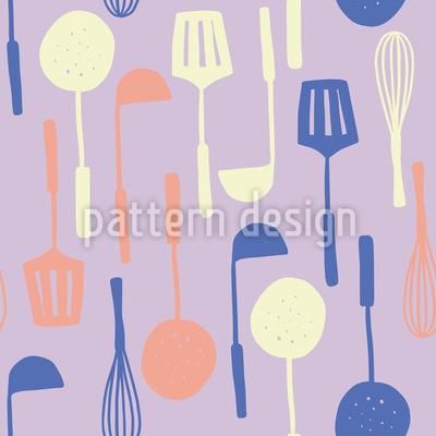 Meine Küchenutensilien Nahtloses Muster