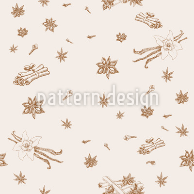 Spices Seamless Vector Pattern