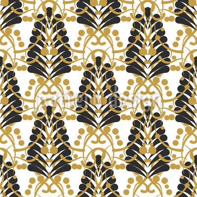 Damask Leaf Vector Pattern