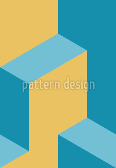 Isometric Steps Vector Design