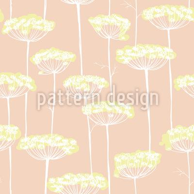 Fenchel Blüten Rapportiertes Design