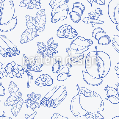 Winter Tea Potpourri Vector Design