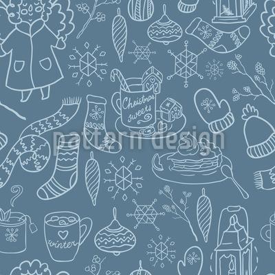 Winter Freuden Rapportiertes Design