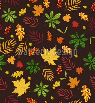 I Like Leaves Seamless Vector Pattern