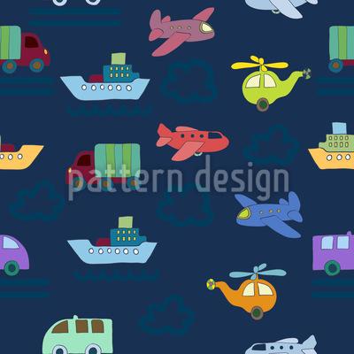Flugzeuge Und Autos Vektor Design