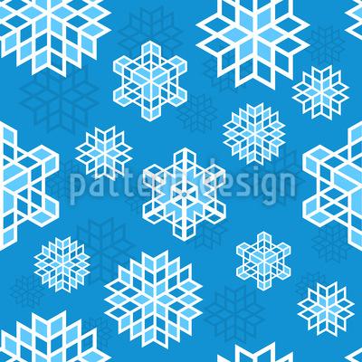 Coole Schneeflocke Muster Design