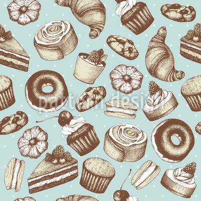 Vintage Bakery Pattern Design