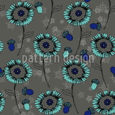 Bohemian Fantasy Flowers Vector Pattern