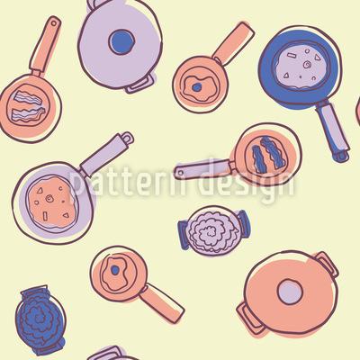 Kochtöpfe und Pfannen Rapportiertes Design