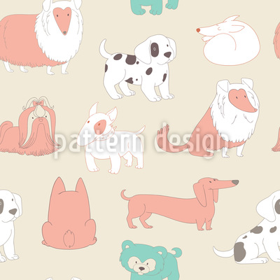 Cute Dogs Repeat Pattern