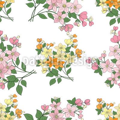 Mille Fleurs Aus Frankreich Vektor Ornament