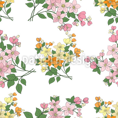 Mille Fleurs From France Vector Ornament
