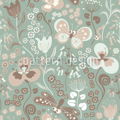 Tiny Garden Life Seamless Vector Pattern