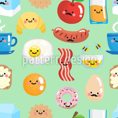 Lächelndes Frühstück Vektor Design