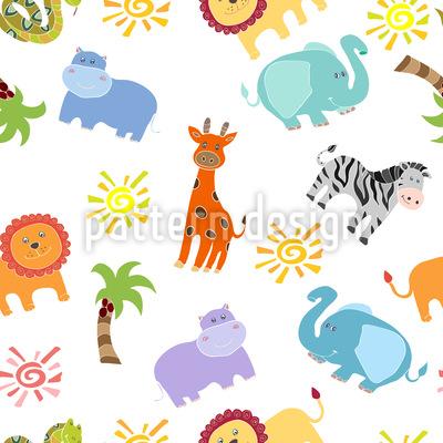 African Animals Pattern Design