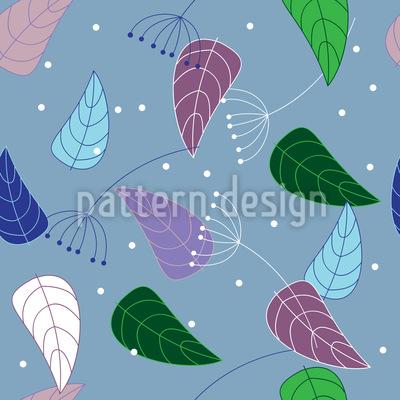 Interessante Blätter Muster Design