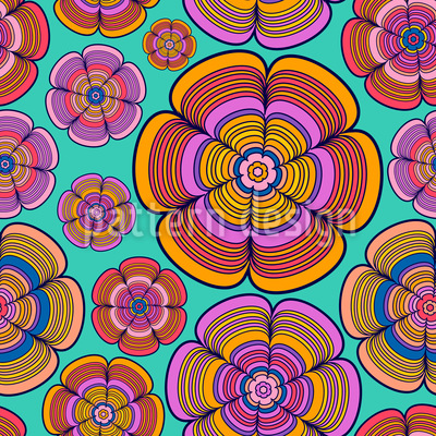Funky Flower Power Pattern Design
