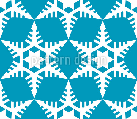 Cut Out Snowflakes Seamless Pattern