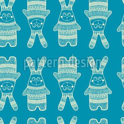 Funny Rabbit Vector Pattern