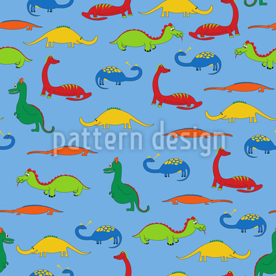 Dragons And Crocodiles Repeat Pattern