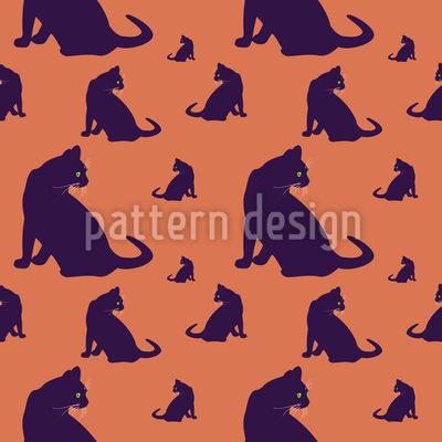 Katzen Im Blick Muster Design