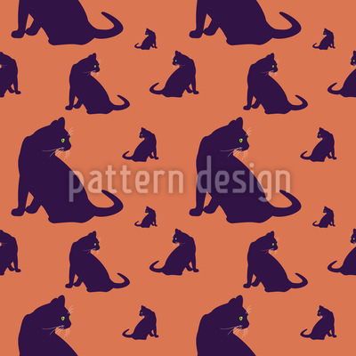 Watch Out For Cats Pattern Design